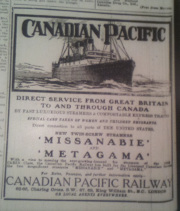 Emigration ad