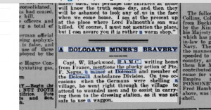 A  Dolcoath Miner's Bravery