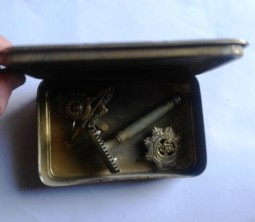 tobacco tin open