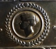 Fred Negus tobacco box detail