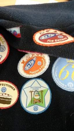 badges on fleece