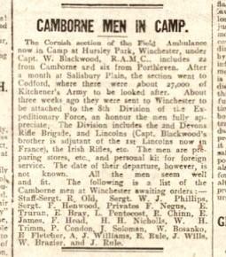 Camborne men in camp
