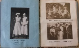 Lily Opie and officers and nurses at the hospital