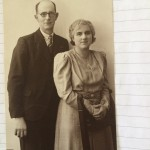 Mr and Mrs L Pentecost on their silver wedding anniversary