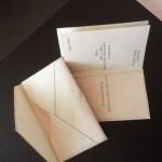 Wewdding card wtih envelope