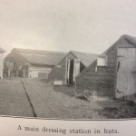 A main dressing station in huts