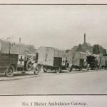 A motor ambulance convoy