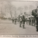Field Ambulance leaving bivouac