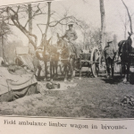 Field Ambulance limber wagon in bivouac