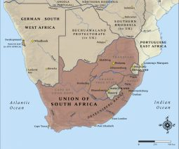 Map South Africa WW1