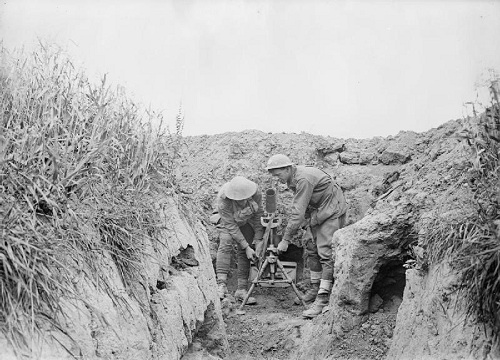 Trench mortar battery